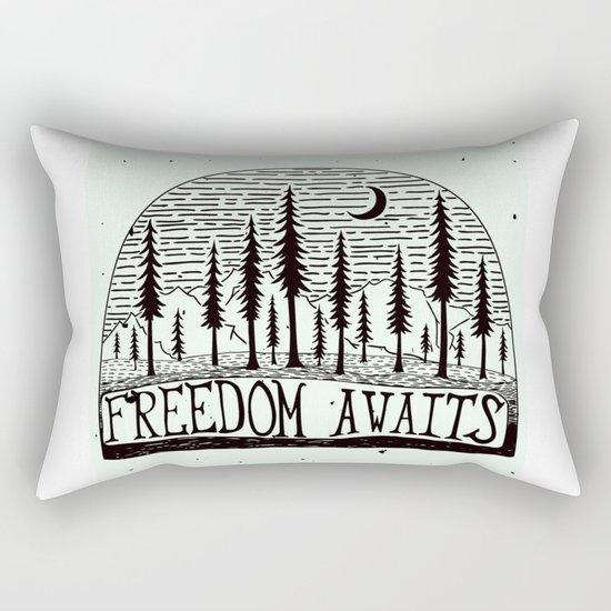 Freedom Awaits Rectangular Pillow