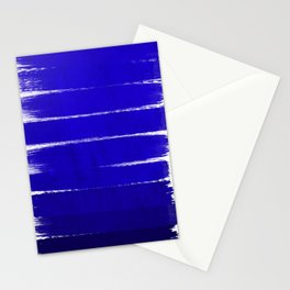 Shel - abstract painting painterly brushstrokes indigo blue bright happy paint abstract minimal mode Stationery Cards