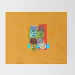CANNED SARDINE Throw Blanket