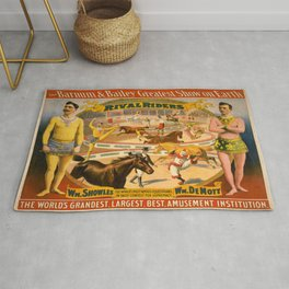 Vintage poster - Rival Riders Rug