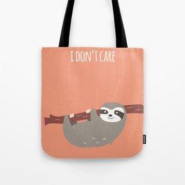 Sloth card - I don't care Tote Bag