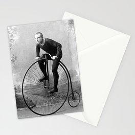 Velocipede racer Stationery Cards
