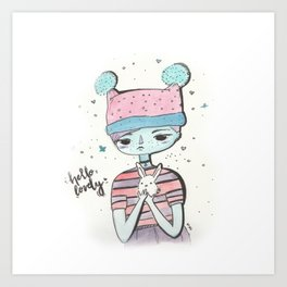 Hello lovely bunnygirl Art Print