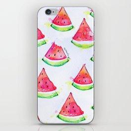 Watermelon Watercolor Print  iPhone Skin