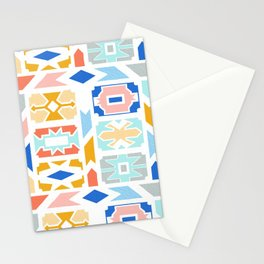 Pastel Ndebele Pattern Stationery Cards