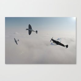 Spitfire Victory Roll Canvas Print