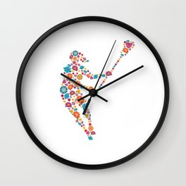 Lacrosse  Flower gift for Lacrosse Player Wall Clock