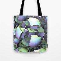 sci fi Tote Bags featuring Sci-fi town by thea walstra