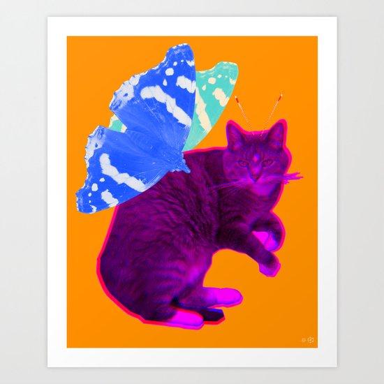 Insekto Cat Collage 1 Art Print
