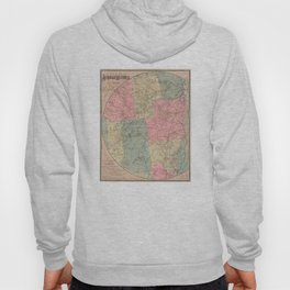 Vintage Map of The Adirondack Mountains (1883) Hoody