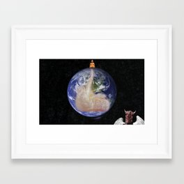 Everybody is a buddha Framed Art Print