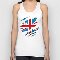 british flag Tank Tops featuring British Flag Pride by northside