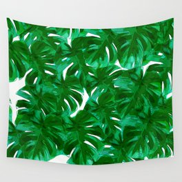 Green Leaves 2 Wall Tapestry
