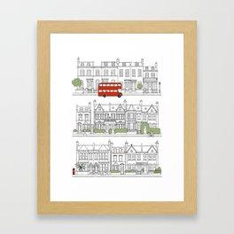 London houses Framed Art Print
