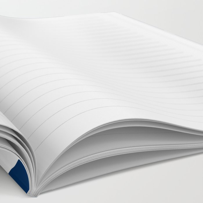 Dark blue and white curved lines pattern Notebook