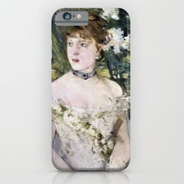 Berthe Morisot - Young Girl in a Ball Gown - Digital Remastered Edition iPhone Case