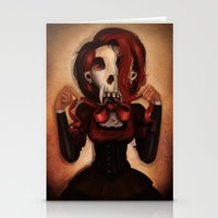 theatre Stationery Cards featuring Skull Theatre by Anna Lisa Wardle