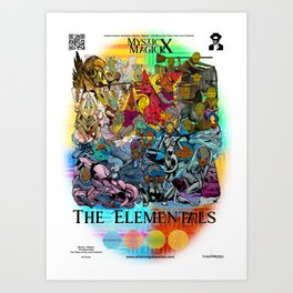 Mysticx & Magick: The Elemental Tribes of the Lost Continent - Art Cover Art Print