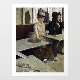 The Absinthe Drinker by Edgar Degas Art Print