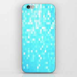 turquoise Pixel Sparkle iPhone Skin