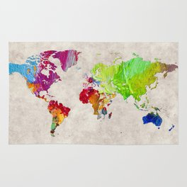 World Map 52 Rug