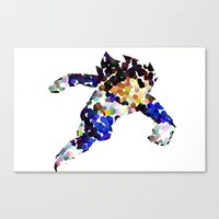 vegeta Canvas Prints featuring vegeta bubbles by codradical