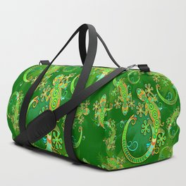 Gecko Lizard Colorful Tattoo Style Duffle Bag
