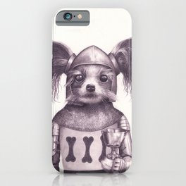 Papillon Knight - Medieval Dog iPhone Case