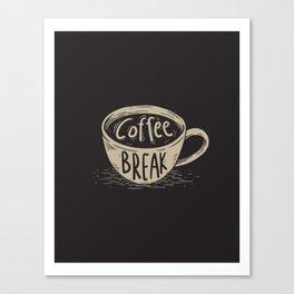 Coffee Break Painting Artwork Canvas Print