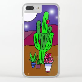 Desert Essence, Night Time Clear iPhone Case