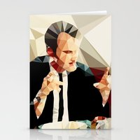 quentin tarantino Stationery Cards featuring Quentin Tarantino // Reservoir Dogs by VIVA LA GRAPH!