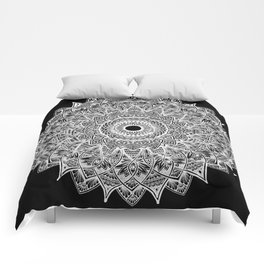 The Sunflower (black) Comforters