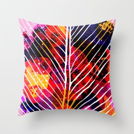 Wild Leaf Throw Pillow