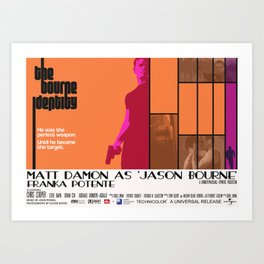 The Bourne Identity Art Print