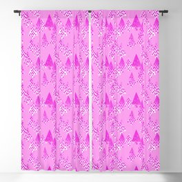Modern Flower Christmas Trees, Orchid Pink Blackout Curtain