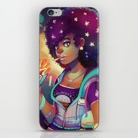 french fries iPhone & iPod Skins featuring Starry Eyes & French Fries by GDBEE