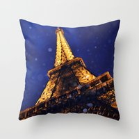 eiffel Throw Pillows featuring EIFFEL by ZakPhotography