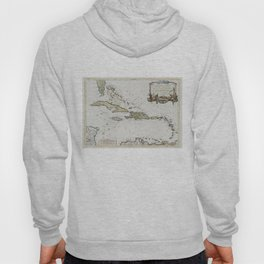Vintage Map of The Caribbean (1779) Hoody