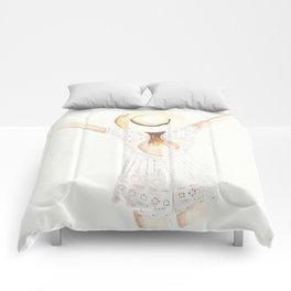 White Eyelet Romper Comforters