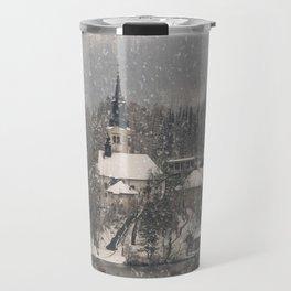 Snowy Bled Island Travel Mug
