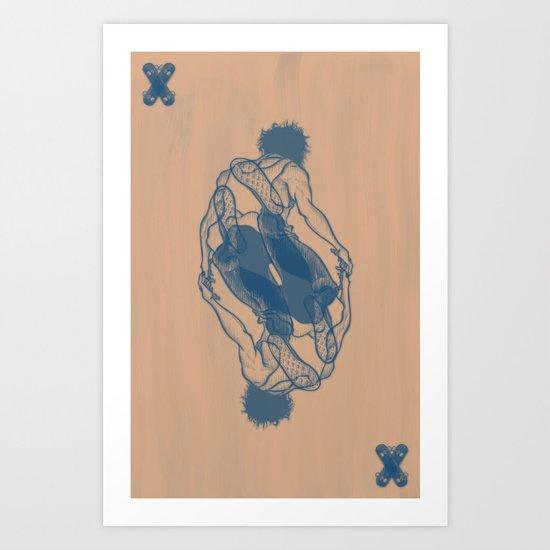 Skater Remix Art Print