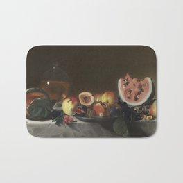 Pensionante del Saraceni Still Life with Fruit and Carafe Bath Mat
