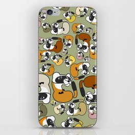 Black Footed Ferret pattern iPhone Skin