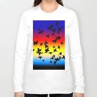 hawaiian Long Sleeve T-shirts featuring Hawaiian Sunset by Lotito Designs