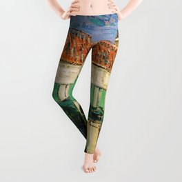 Vincent Van Gogh : White House at Night Leggings