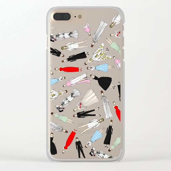 Audrey Hepburn Think Pink Outfits Fashion Clear iPhone Case