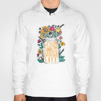 bright Hoodies featuring ALWAYS LOOK ON THE BRIGHT SIDE... by Matthew Taylor Wilson