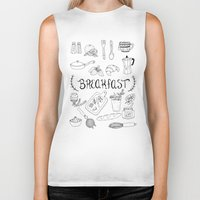 breakfast Biker Tanks featuring Breakfast by Brooke Weeber