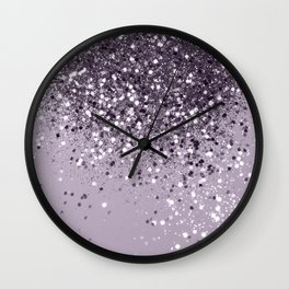 Sparkling Lavender Lady Glitter #2 #shiny #decor #art #society6 Wall Clock