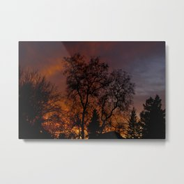 Sunset on the Front Porch Metal Print